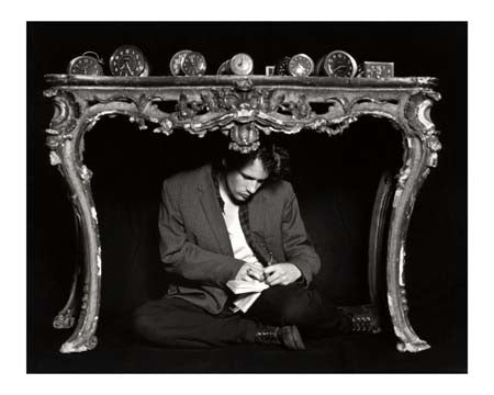 Jeff Buckley, Clock Table, NYC 1993 by Merri Cyr
