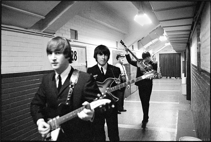 John, Paul & George in the hall, 1964 by Curt Gunther