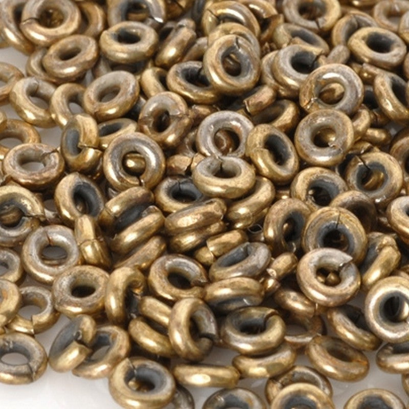 Brass-4mm Hishi Spacer Bead-Bronze-15 Inch Strand