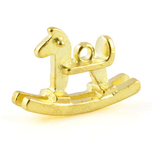 Casting-12x27mm Rocking Horse Pendant-Brass
