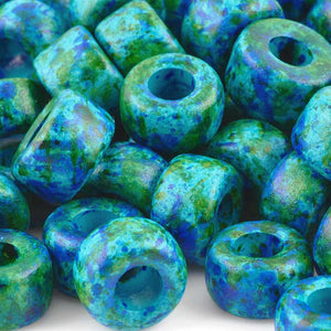 Ceramic Beads-15mm Rounded Tube-Deep Sea