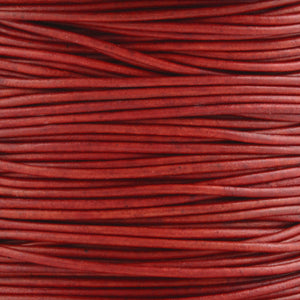 Leather Cord-Round-Soft-Natural Red
