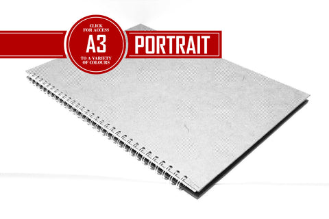 A3 Posh Thick Display Book Black 270gsm Paper 25 Leaves Portrait