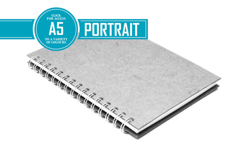 A5 Posh Thin Display Book Black 270gsm Paper 15 Leaves Portrait