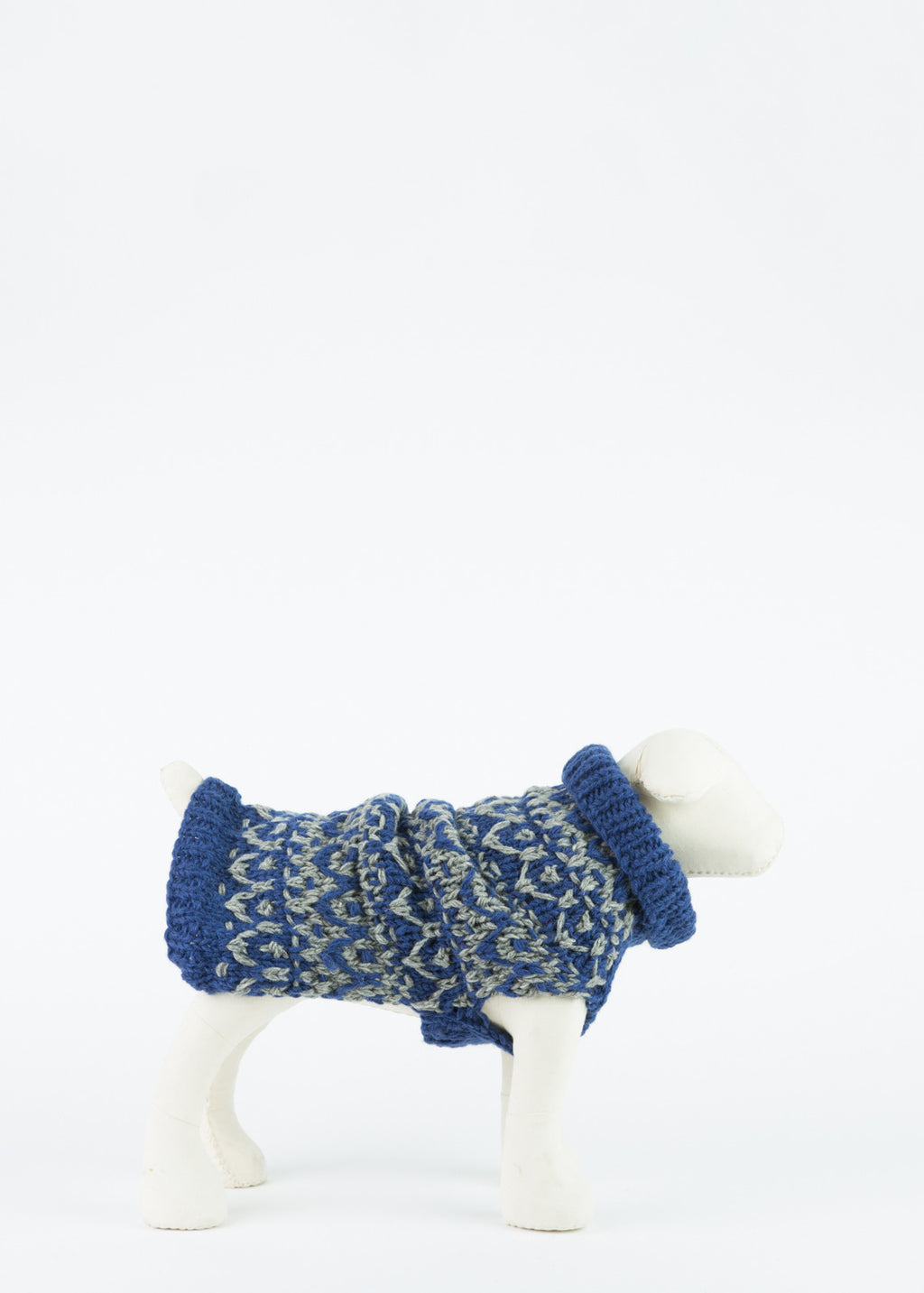 Ware of the Dog Hand Knit Textured Dog Pullover