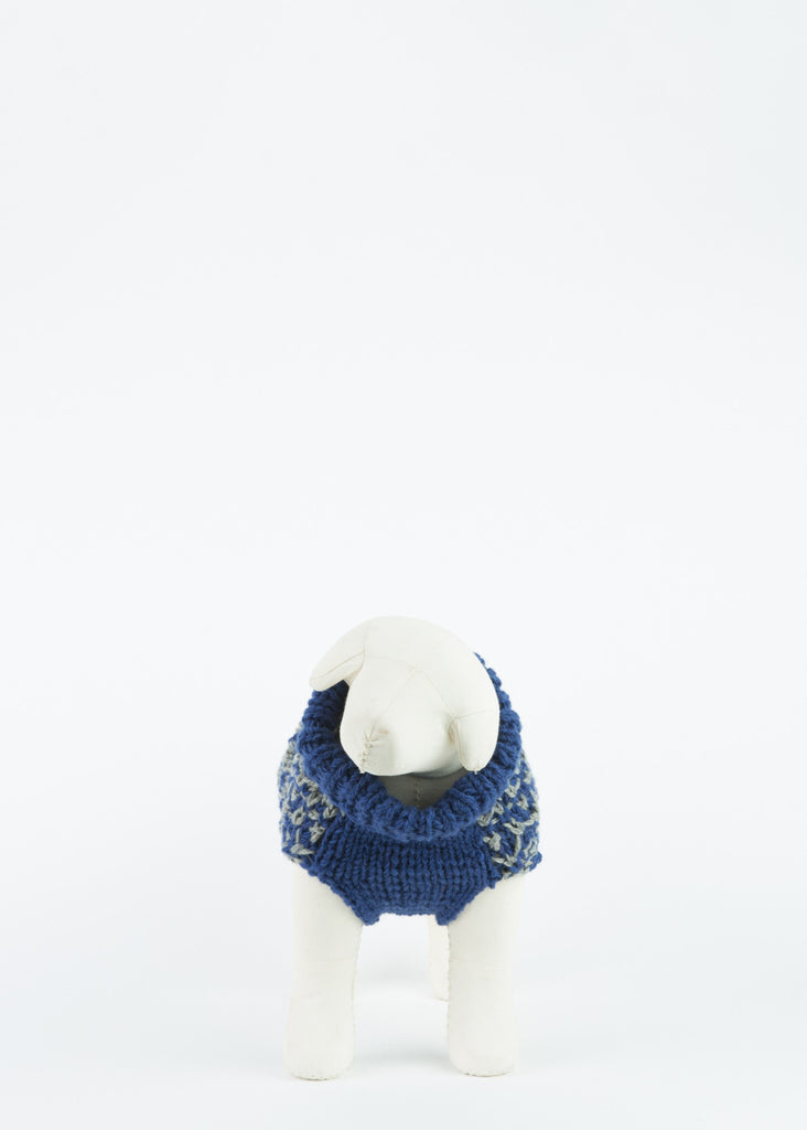 Hand Knit Textured Dog Pullover