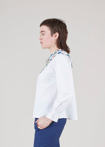 Plate Collar Blouse