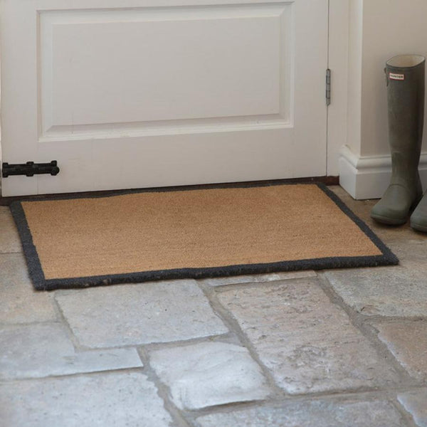 Doormat with Charcoal Border at the Farthing