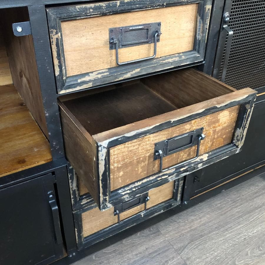 Metal & Wood Upton Storage Cabinet at the Farthing