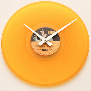 "Elvis Presley <br>Golden Performer<br> 12"" Yellow Vinyl Clock"