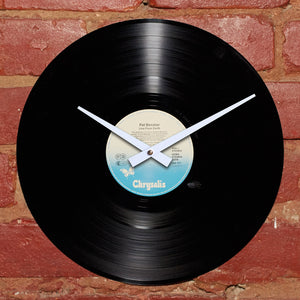 Pat Benatar - Live From Earth German Import - Authentic Vinyl Clock Made From Original LP Record