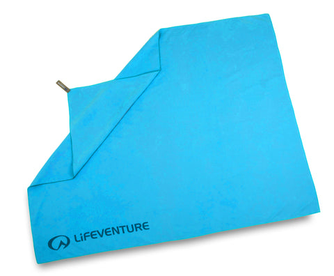 small blue ultra-absorbent quick drying travel towel