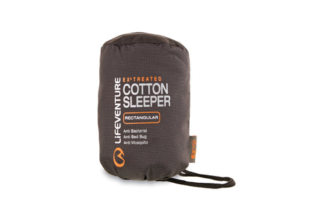 Cotton sleeping bag liner to protect against bed bugs