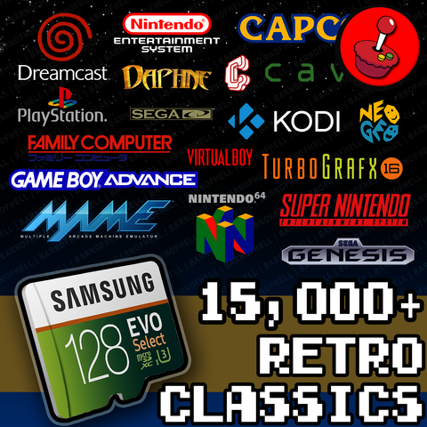 128 GB Retropie 4.4 SD Card - Premium Collection With Video Previews And 3D Boxart