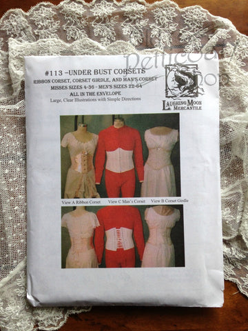 Laughing Moon #113 Under Bust Corsets Pattern