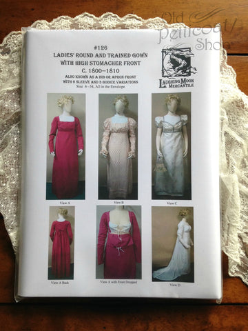 Laughing Moon #126 Ladies' Round & Trained Gown Pattern