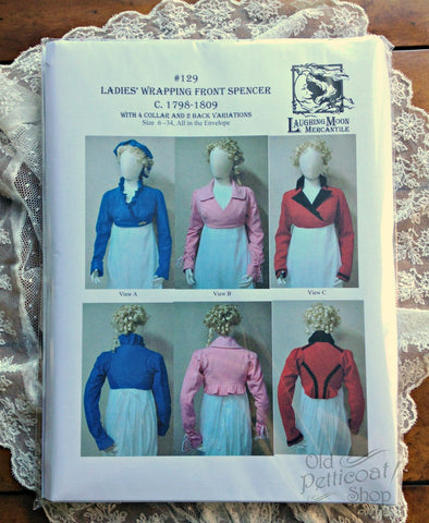 Laughing Moon #129 Ladies' Wrapping Front Spencer Pattern