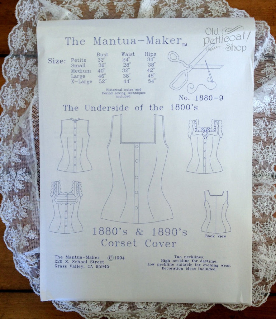 Mantua Maker 1880's-1890's Corset Cover Pattern