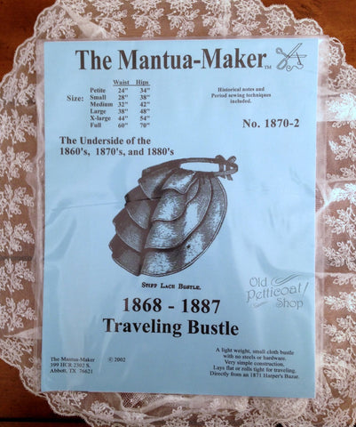 Mantua Maker 1868-1887 Traveling Bustle Pattern