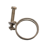 40mm Spiral Stainless Steel Pond Hose Clamp - Pk of 4