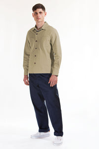 The cotton over-shirt - Taupe