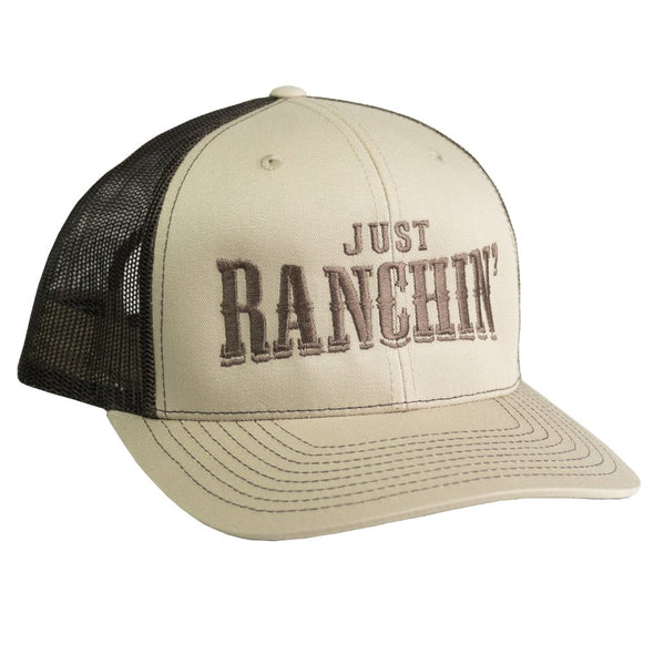 Just Ranchin Tan & Brown Mesh Precurved