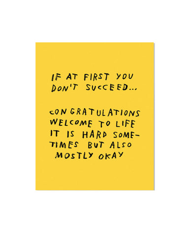 If At First You Don't Succeed... Art Print