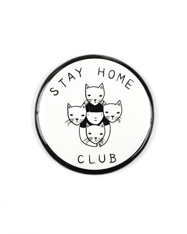 Stay Home Club Large Refrigerator Magnet