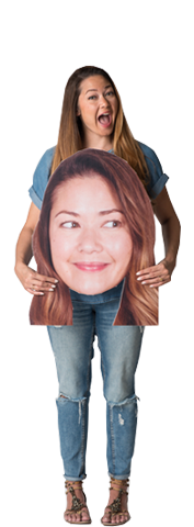Big Face Custom Photo Prop  , CrowdSigns - 1