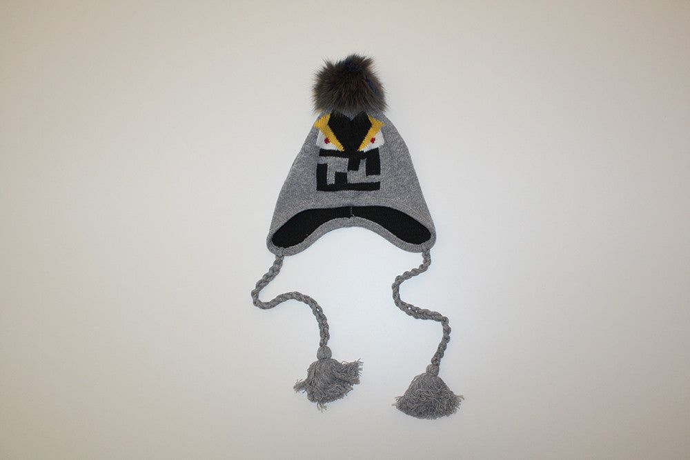 Fendi Kids Angry Face Logo Hat