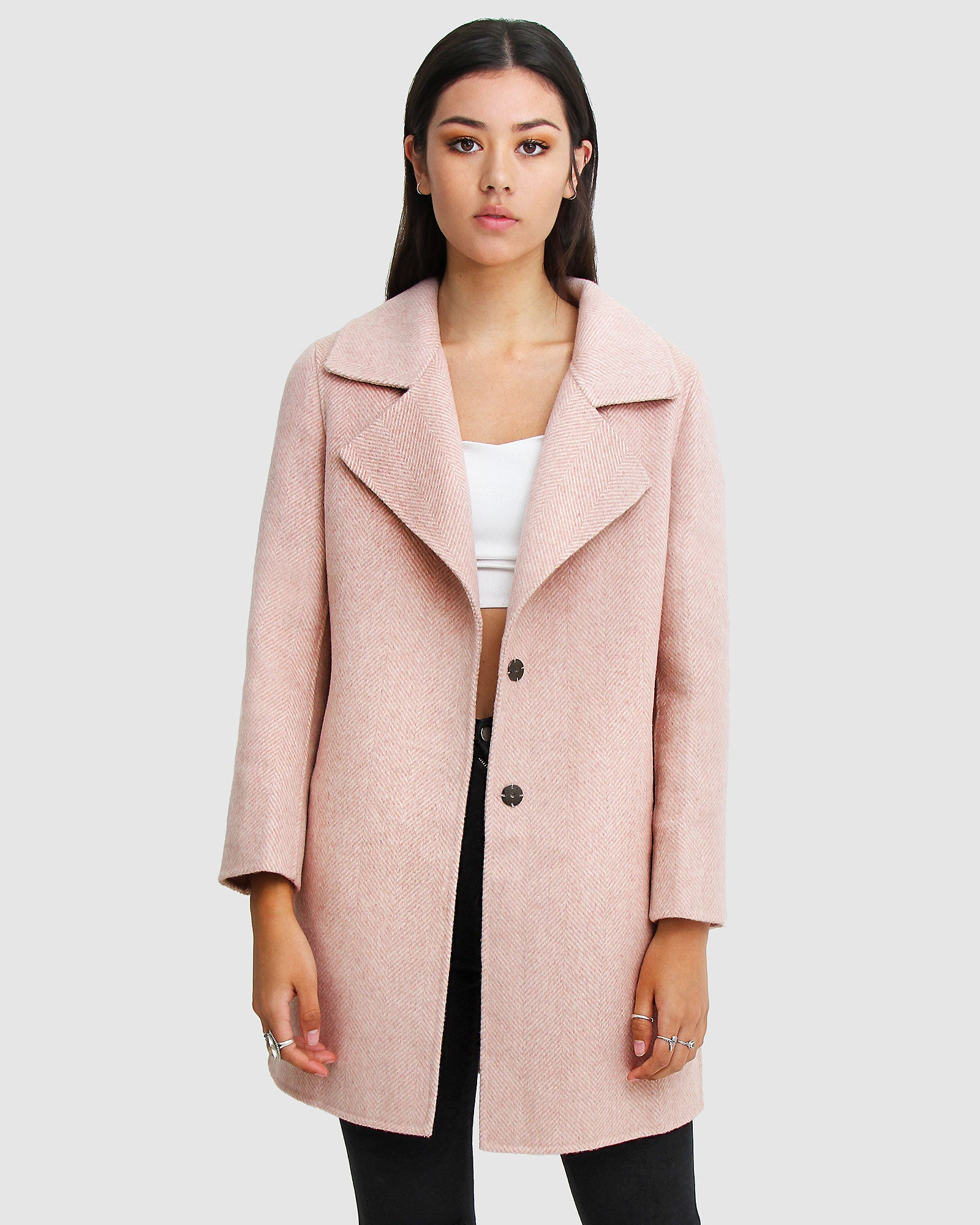 Ex-Boyfriend  Wool Blend Oversized Jacket - Blush
