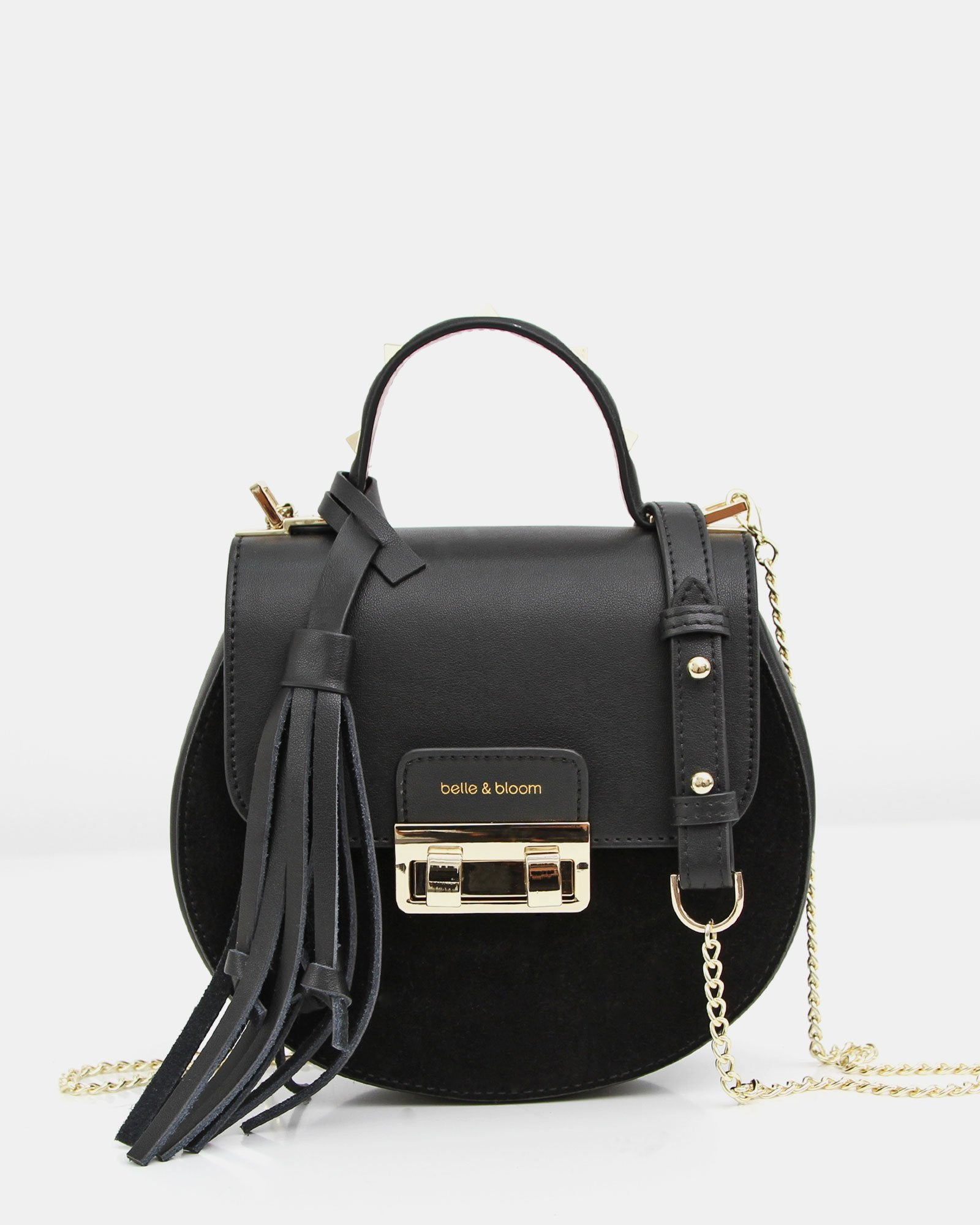 Belmore Exchange Leather Cross-Body - Black