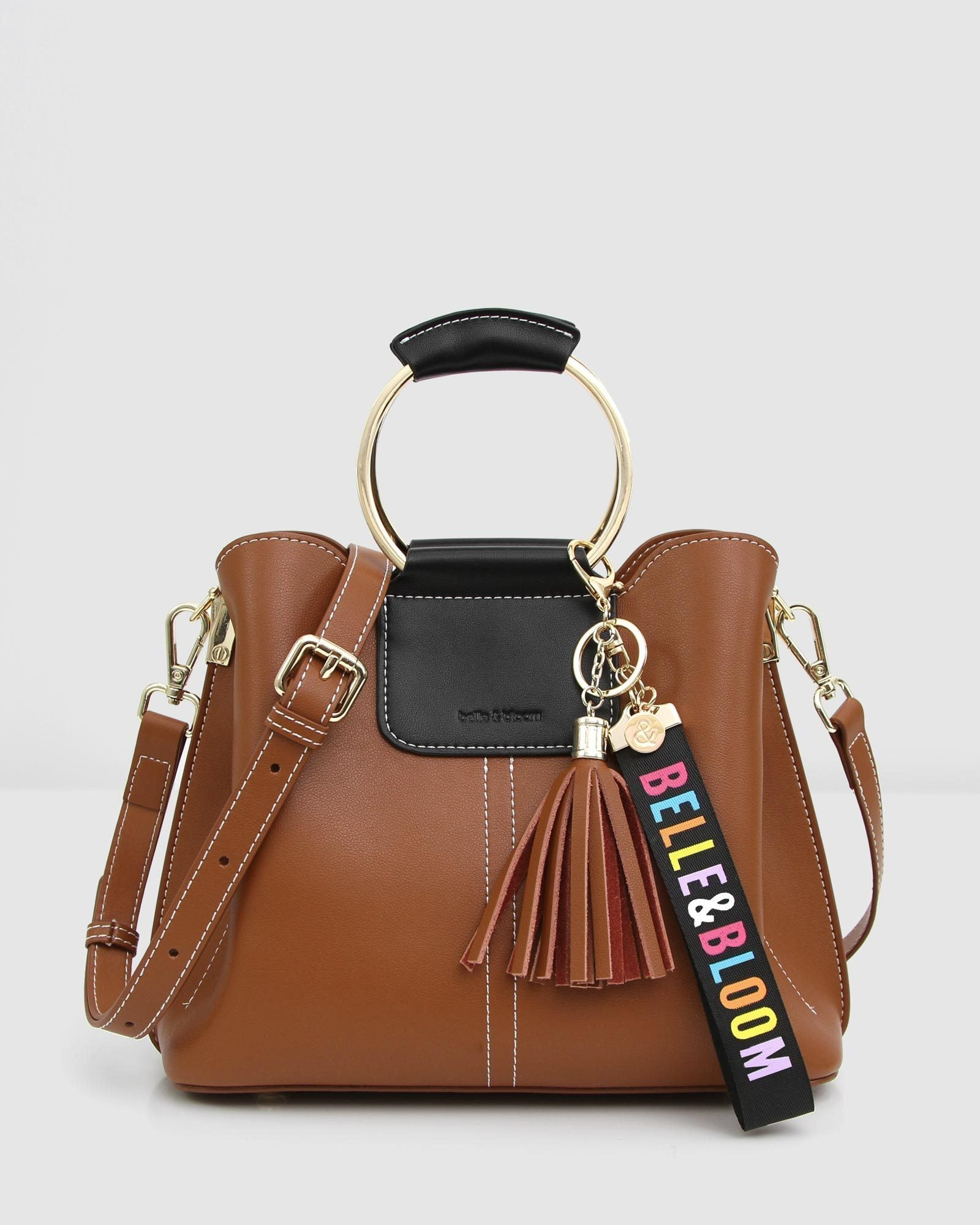 Twilight Leather Cross-Body Bag - Brown / Black