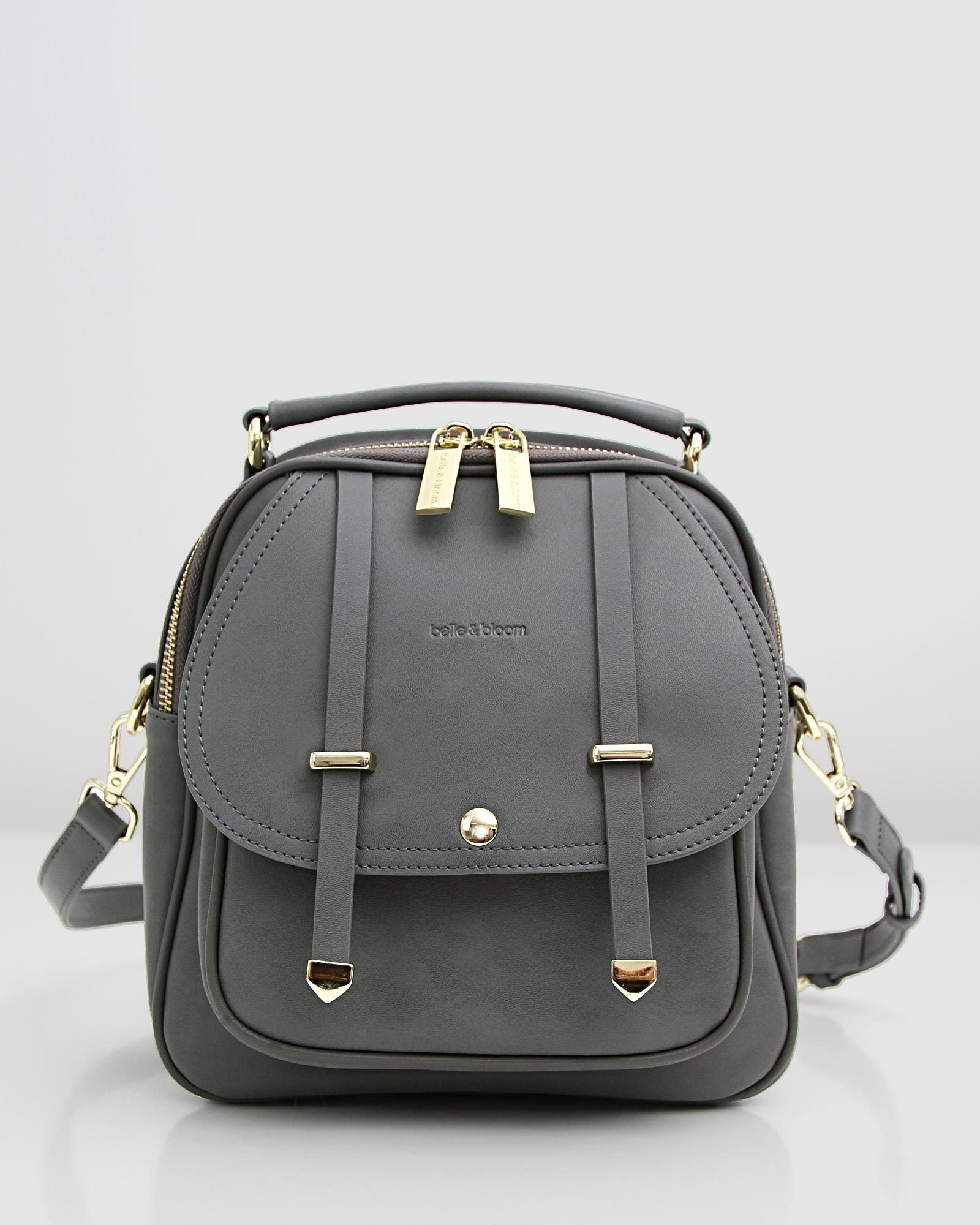 Camila Leather Backpack - Ash