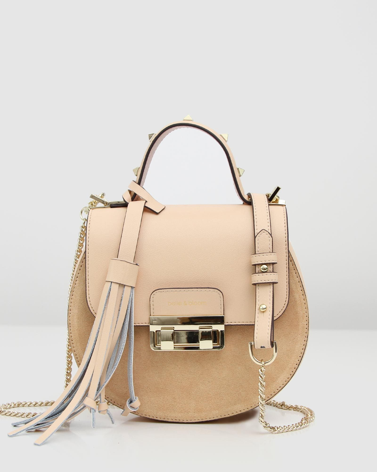 Belmore Exchange Leather Cross-Body - Milk Tea/Sand