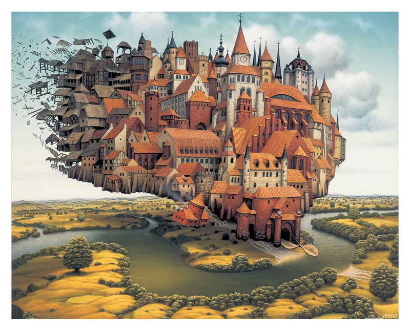 500 pieces Jigsaw Puzzle Jacek Yerka City is Landing Pintoo H1645