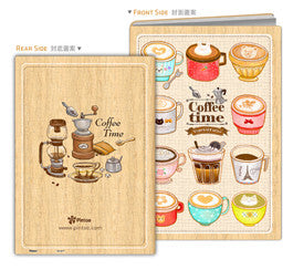 Puzzle Notebook Cover - Cafe Shop