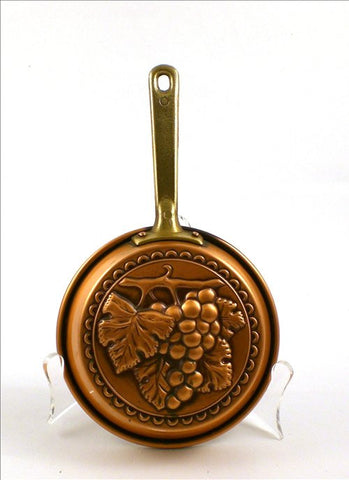 Italian Hammered Copper Small Pan Grapevine Image