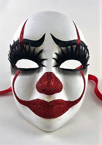 "Volto Pagliaccio ""Lashes"" The Venetian Clown Image"