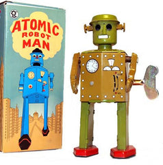 Atomic Robot Man Jr. Tin Toy Windup - Just Arrived