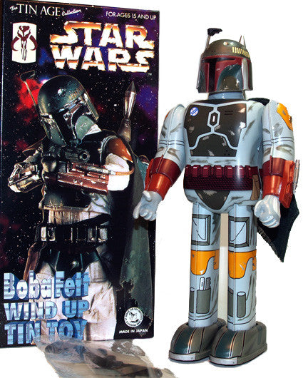 Boba Fett Robot Wind Up Tin Toy Star Wars - SOLD!