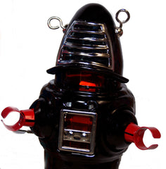 JUST ARRIVED! Robby the Robot Black Planet Robot Windup Tin Toy Black