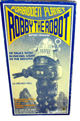 Black Masudaya Japan Robby The Robot Talking 16 inch Action Figure - Early First Edition!