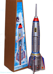 "JUST ARRIVED! Giant Rocket Tin Toy 15"" Tall Space Toy"