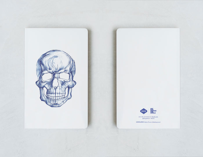 Blue Skull Notebook