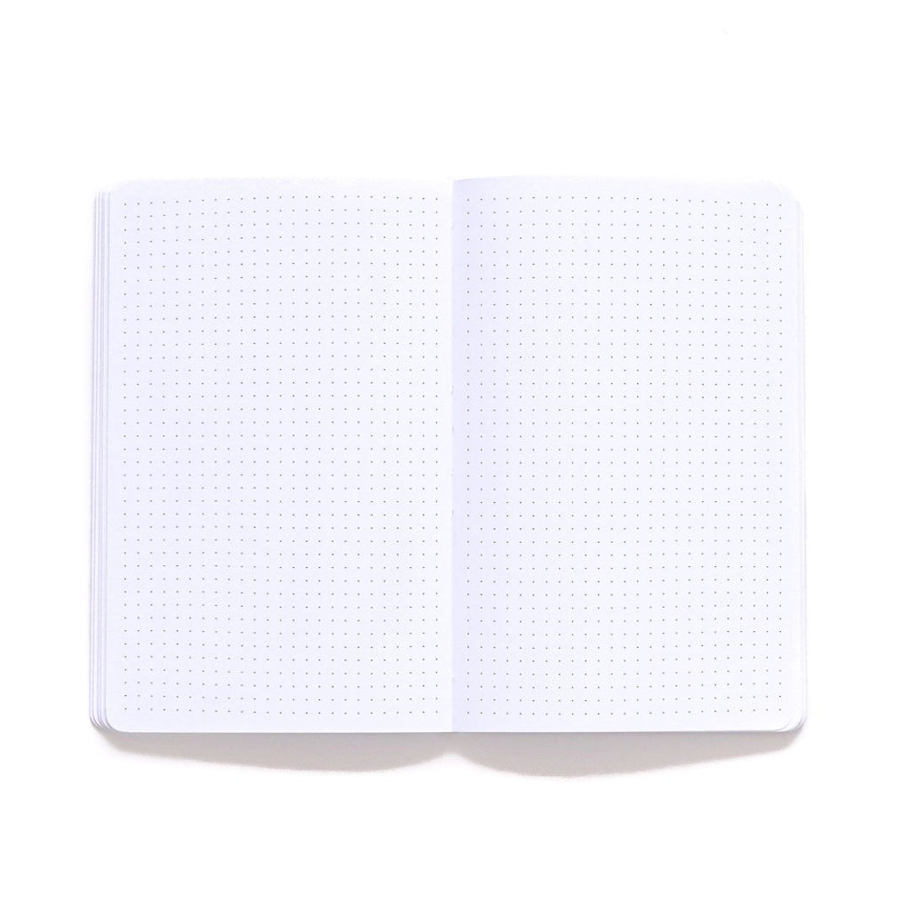 Home Softcover Notebook dot grid page spread