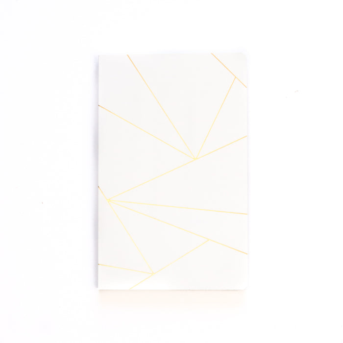 Geo White Layflat Softcover Notebook