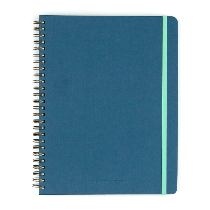 Navy Join The Movement Spiral Hardcover Notebook