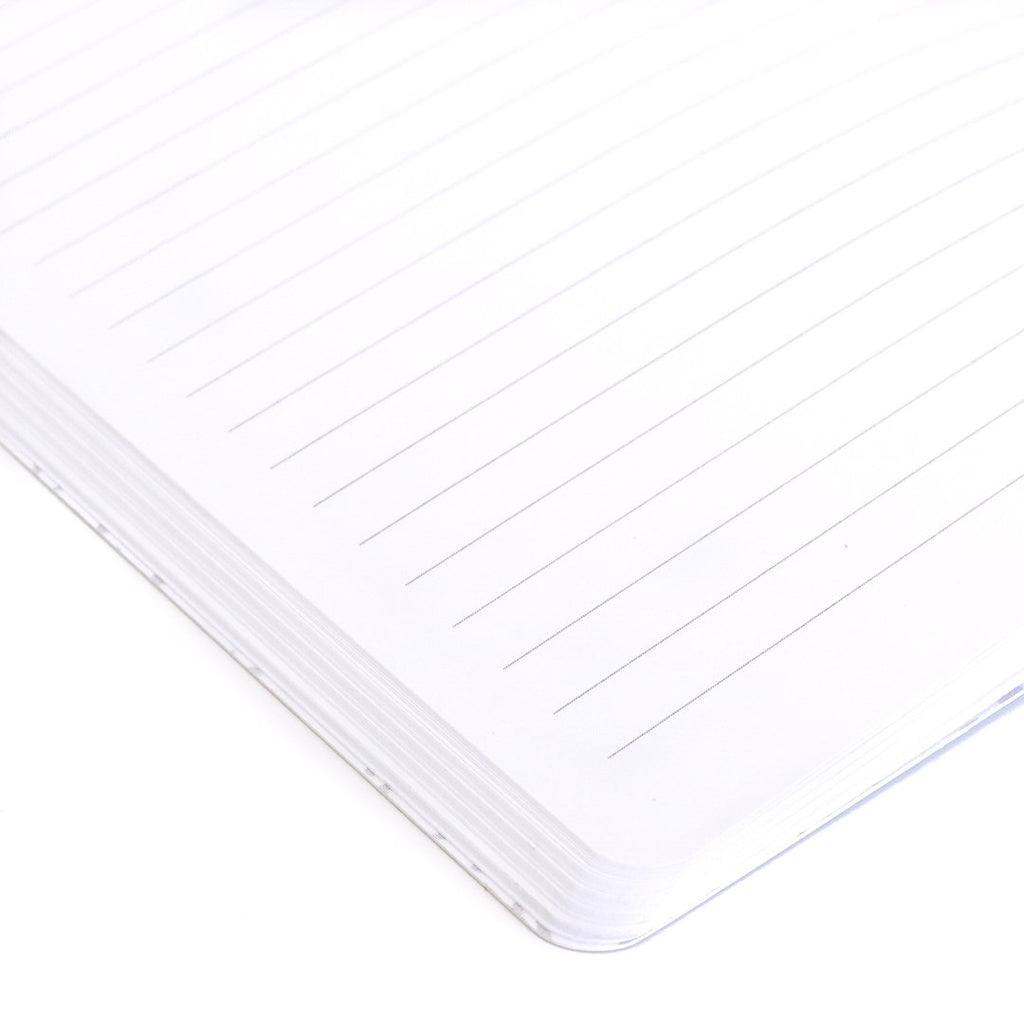 Home Softcover Notebook lined page closeup