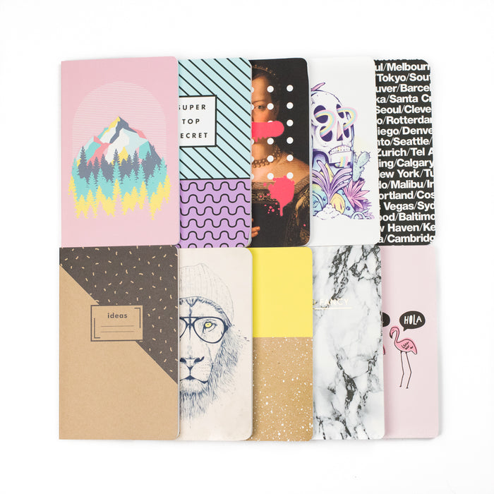 Epic Bundle of 10! Layflat Softcover Notebook